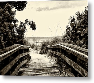 The Beach Path - Clearwater Beach Metal Print by Bill Cannon