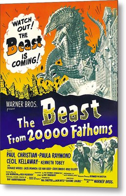 The Beast From 20,000 Fathoms, Advance Metal Print by Everett