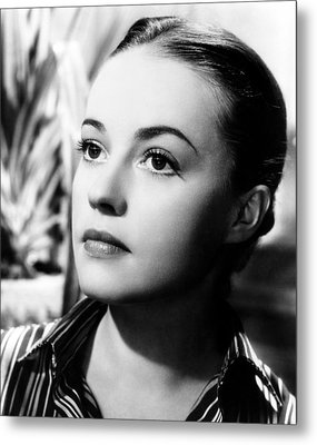 The Bed, Jeanne Moreau, 1954 Metal Print