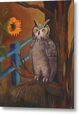The Better Life- Owl Metal Print by Debbie McCulley