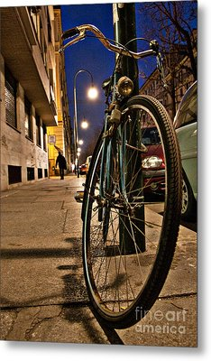 Metal Print featuring the photograph The Bicycle by Sonny Marcyan