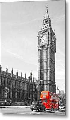 Metal Print featuring the photograph The Big Ben - London by Luciano Mortula