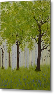 The Birch Grove Metal Print