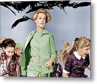 The Birds, Tippi Hedren Center, 1963 Metal Print by Everett