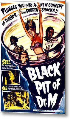 The Black Pit Of Dr. M, Aka Misterios Metal Print by Everett