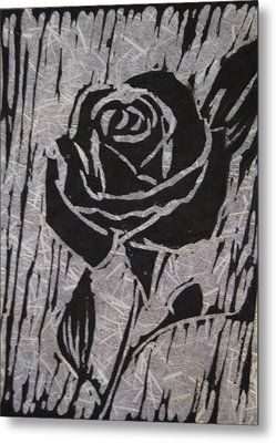 The Black Rose Metal Print by Marita McVeigh