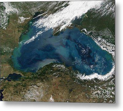 The Black Sea In Eastern Russia Metal Print by Stocktrek Images