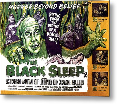 The Black Sleep, Close-up On Left Tor Metal Print by Everett