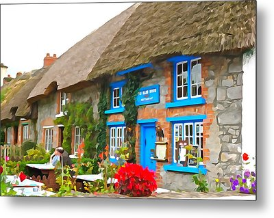 Metal Print featuring the photograph The Blue Door by Charlie and Norma Brock