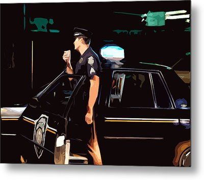 The Blue Line Metal Print by Robert Ponzoni