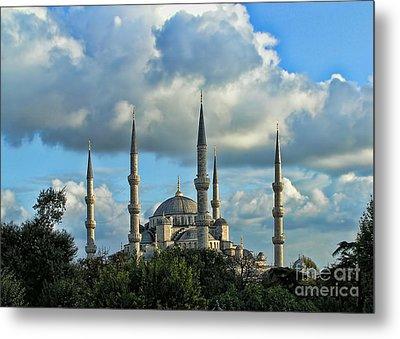 The Blue Mosque Sultanahmet Camii  Metal Print by Alexandra Jordankova