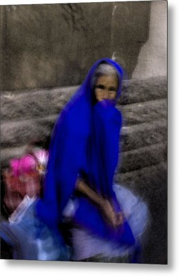 The Blue Shawl Metal Print by Lynn Palmer