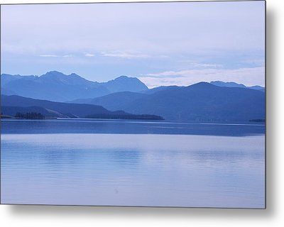 Metal Print featuring the photograph The Blue Shore by Dany Lison