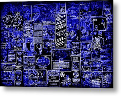 The Blues In Memphis Metal Print by Carol Groenen