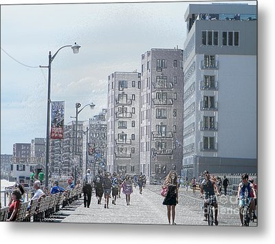 The Board Walk Metal Print by Laurence Oliver
