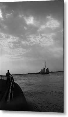 The Boat Metal Print by Nina Mirhabibi