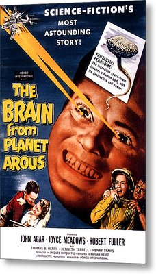 The Brain From Planet Arous, Center Metal Print by Everett