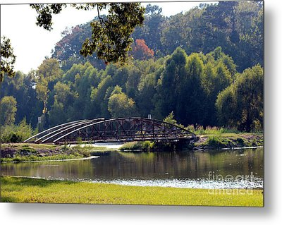 Metal Print featuring the photograph The Bridge by Kathy  White