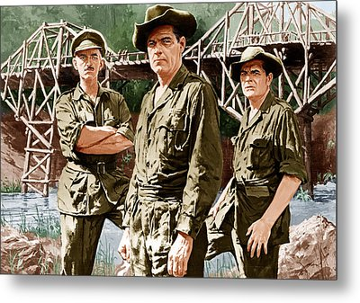 The Bridge On The River Kwai, From Left Metal Print by Everett