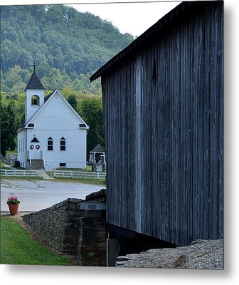 The Bridge To Salvation Is Covered Metal Print