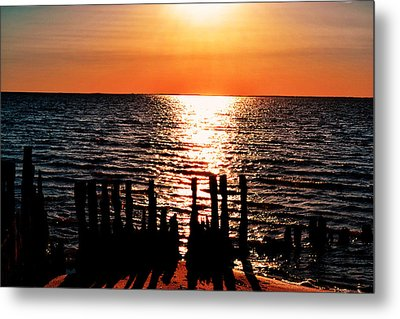 Metal Print featuring the photograph The Broken Pier by Kelly Reber