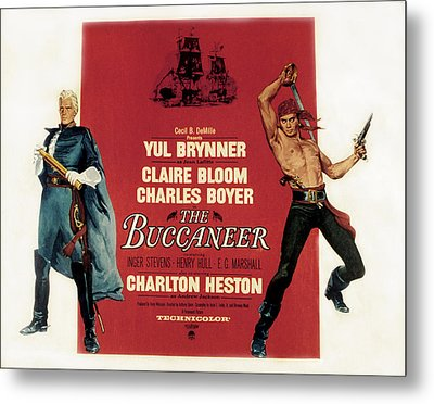 The Buccaneer, Charlton Heston, Yul Metal Print by Everett