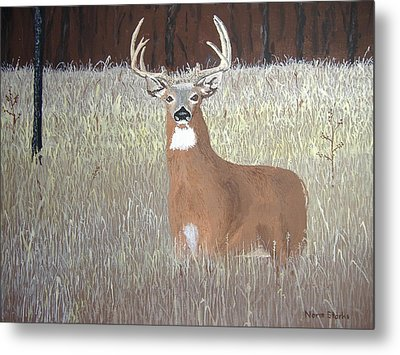 Metal Print featuring the painting The Buck Stops Here by Norm Starks