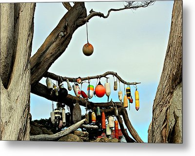 Metal Print featuring the photograph The Buoy Tree by Jo Sheehan