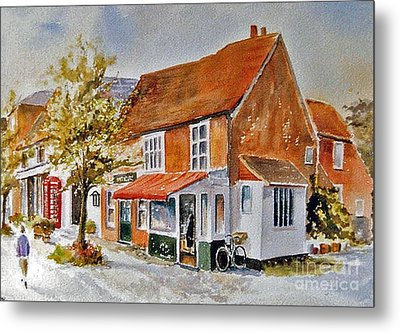 Metal Print featuring the painting The Butcher Shop Lenham by Beatrice Cloake