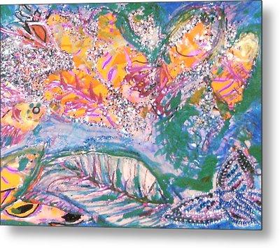 The Butterfly's Dream Metal Print by Anne-Elizabeth Whiteway