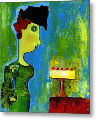 The Cake Metal Print by Agnes Trachet