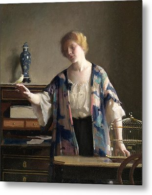 The Canary Metal Print by William McGregor Paxton