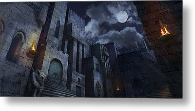 The Castle Metal Print by Virginia Palomeque