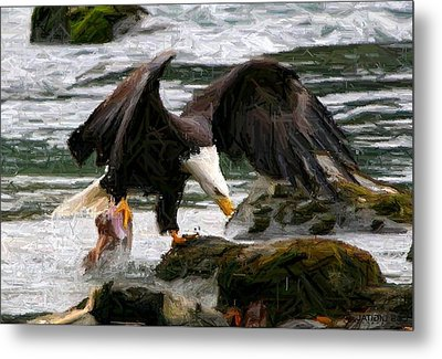 The Catch Metal Print by Carrie OBrien Sibley