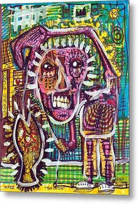 The Catch Metal Print by Robert Wolverton Jr