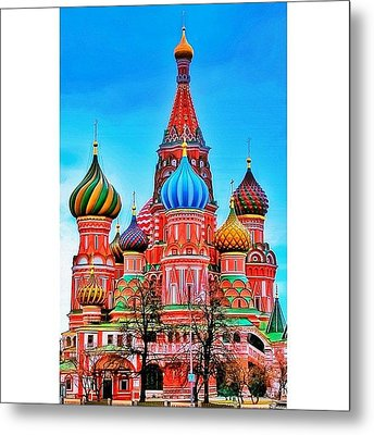 The Cathedral Of The Protection Of Most Metal Print by Tommy Tjahjono