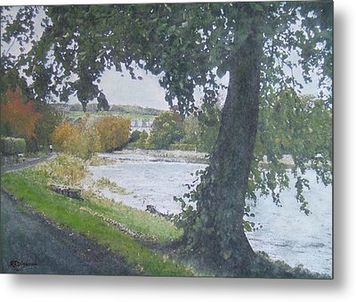 Metal Print featuring the painting The Cauld Peebles by Richard James Digance