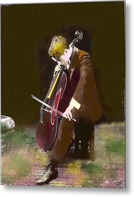 The Cello Player Metal Print by Charles Shoup