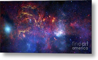 The Central Region Of The Milky Way Metal Print by Stocktrek Images
