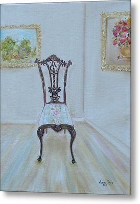 Metal Print featuring the painting The Chair by Judith Rhue