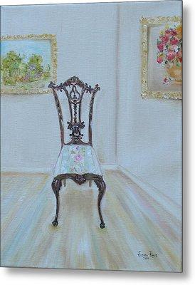 The Chair Metal Print by Judith Rhue