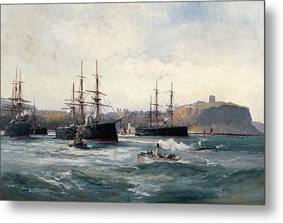 The Channel Fleet Off Scarborough Metal Print