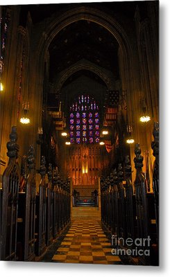 Metal Print featuring the photograph The Chapel At Valley Forge Park by Cindy Manero