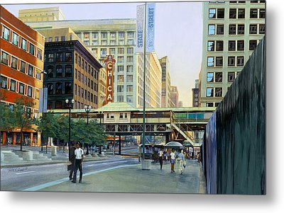 The Chicago Theater Metal Print by Rick Clubb
