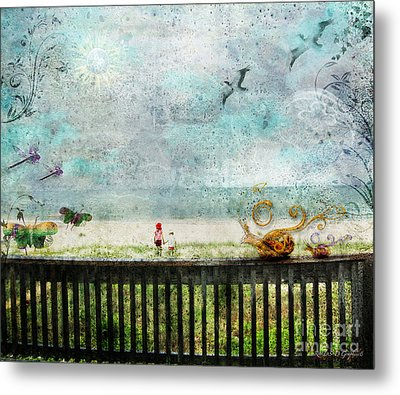 Metal Print featuring the digital art The Child In Us by Rhonda Strickland