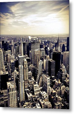 The Chrysler Building And Skyscrapers Of New York City Metal Print by Vivienne Gucwa