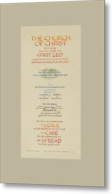 The Church Of Christ In Every Age II Metal Print by Judy Dodds