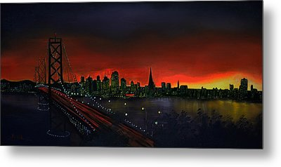 The City By The Bay Metal Print by Jamil Alkhoury