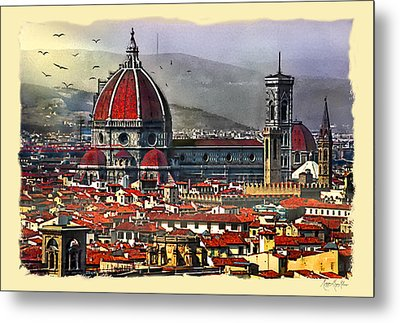 The City Of Florence Metal Print