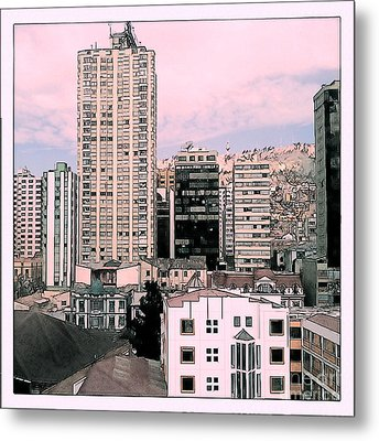 The City Of La Paz Metal Print